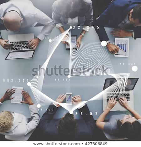 Geschäftsmann Business Analytik Informationstechnologie Tablet Büro Stock foto © AndreyPopov