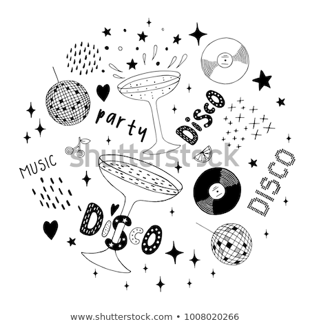Cartoon vector doodles Disco music illustration Stock photo © balabolka