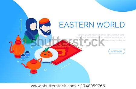 Wschodniej świat nowoczesne wektora kolorowy izometryczny Zdjęcia stock © Decorwithme