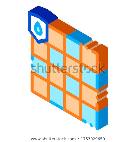 Waterproof Material Dalle isometric icon vector illustration Stock photo © pikepicture