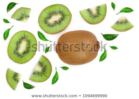 streszczenie · zielone · surowy · kiwi · plastry - zdjęcia stock © boroda