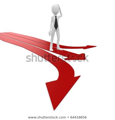 3d · man · meervoudig · pijl · geïsoleerd · witte · vrouw - stockfoto © dacasdo