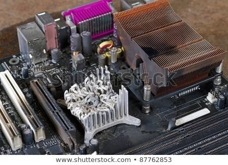 Photo stock: Refroidissement · élément · ordinateur · principale · bord · rouillée