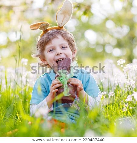 Pasen · chocolade · konijn · teken · zoete · oren - stockfoto © lovleah