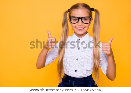 Cute Young Female Student Giving Thumbs Up Sign  Stock photo © williv