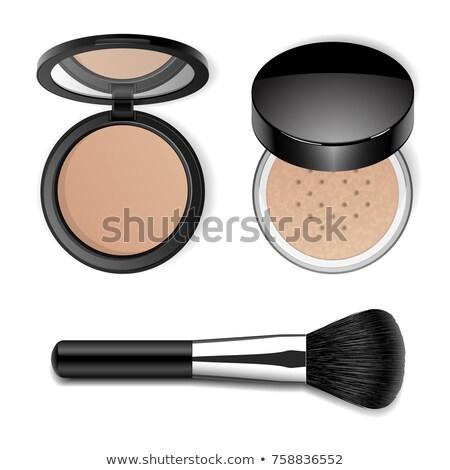 menina · make-up · isolado · branco - foto stock © imarin