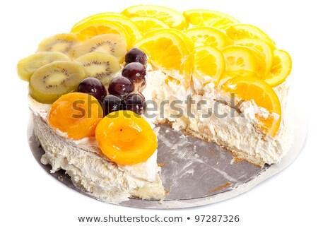 Fruit cake stuk vermist witte vruchten Stockfoto © feedough