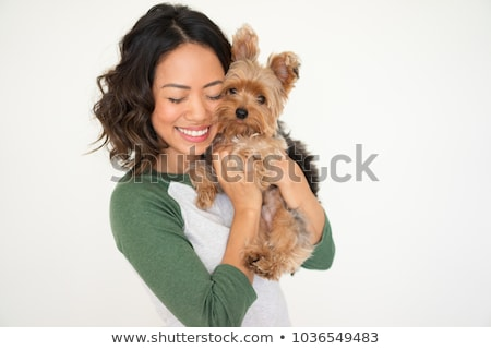 Young girl hugging her dog Stock photo © photography33
