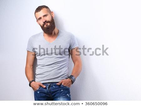 Elegancki młodych facet miasta moda piękna Zdjęcia stock © konradbak