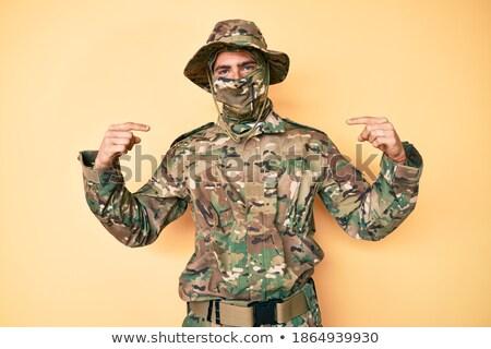soldier with balaclava Stock photo © tiero