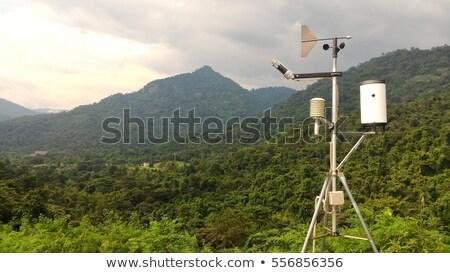 Hava durumu istasyon dağ gökyüzü yol Bina Stok fotoğraf © cozyta
