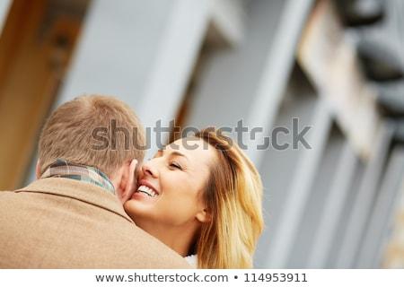 pareja · parte · nina · coche · carretera · sexy - foto stock © stockyimages
