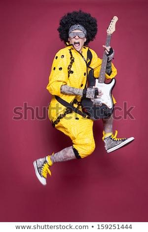 Portret człowiek biegun kostium skóry biały Zdjęcia stock © photography33