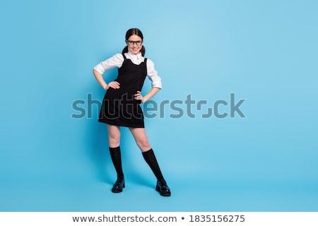 aandachtig · schoolmeisje · portret · meisje · luisteren · leraar - stockfoto © stockyimages