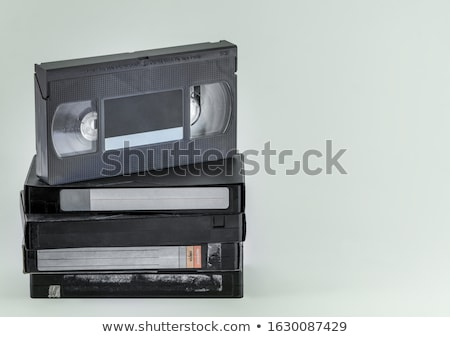 starych · wideo · taśmy · odizolowany · biały · telewizji - zdjęcia stock © homydesign