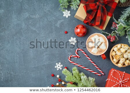 present box on blackboard banner stock photo © marinini