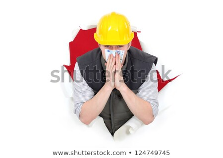 Builder smelling bank note Stock photo © photography33