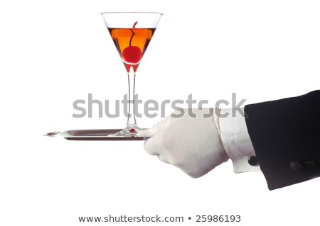 Manhattan · cocktail · stock · image · verre · de · martini · cerises - photo stock © ozaiachin