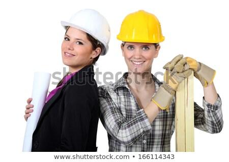 female architect stood with female carpenter stock photo © photography33