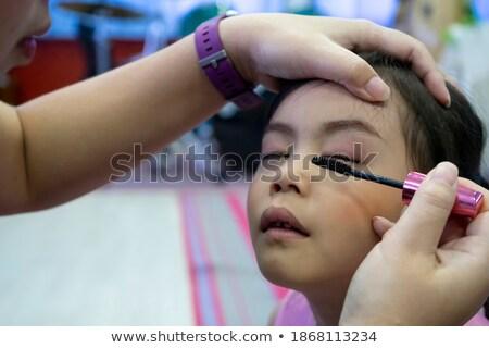 weinig · make-up · kunstenaar · werk · schoonheid · portret - stockfoto © carlodapino