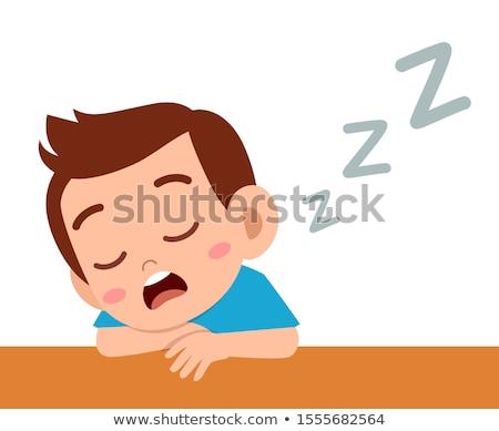 uczeń · snem · zmęczony · książek · papieru · oczy - zdjęcia stock © get4net