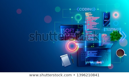 Site promoteur nouvelle interface internet homme Photo stock © silent47