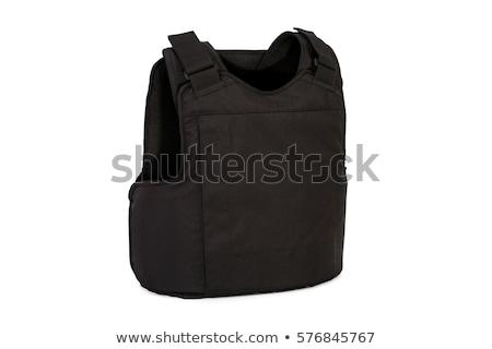 revólver · policía · aislado · negro · arte · arma - foto stock © ozaiachin