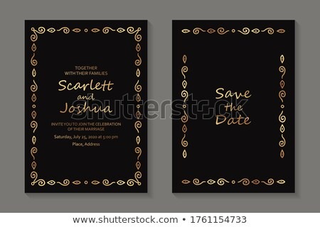 Golden Business Card with Modern Texture and Black Corner stock photo © liliwhite