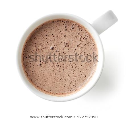 beker · warme · chocolademelk · geïsoleerd · witte · chocolade · hot - stockfoto © moses