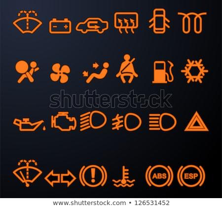 Samochodu tablica rozdzielcza proste ikona Zdjęcia stock © Winner
