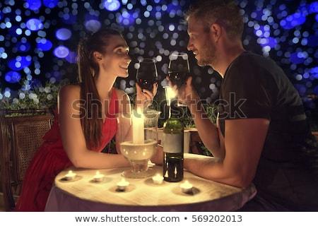 Romântico noite data restaurante feliz Foto stock © dotshock