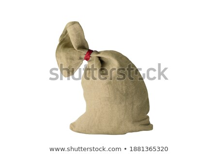 textile sachet pouch - knotted and filled Stock photo © shutswis