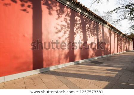 City Wall Park with Shadows Beijing China  Stock photo © billperry