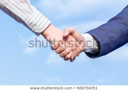 Handshake on sky background Stock photo © Grazvydas