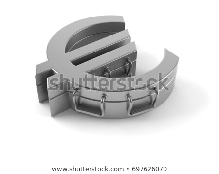 Foto d'archivio: 3d Euro Currency Sign Isolated On White
