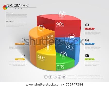 3D · Tortendiagramm · Blatt · finanziellen · Finanzierung - stock foto © quka