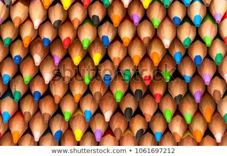 Houten krijt potloden witte Stockfoto © stevanovicigor