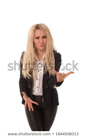 vrouw · poseren · stijl · witte · gezicht · vrouwelijke - stockfoto © wavebreak_media
