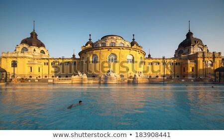 banyo · Budapeşte · kış · gün · Macaristan · masaj - stok fotoğraf © neirfy