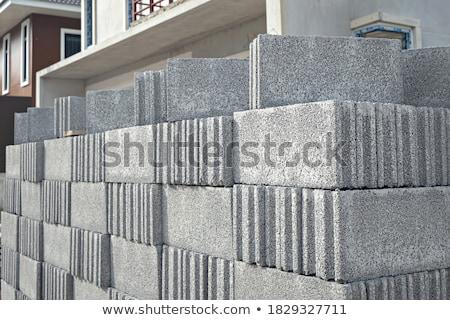 Metselwerk vak kubus icon clip art Stockfoto © zzve