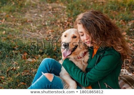 Золотистый · ретривер · Cute · женщину · любви - Сток-фото © Talanis