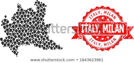 Grunge flag of Milan region of Italy Stock photo © speedfighter