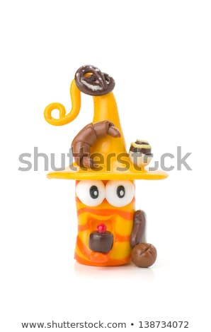 Handmade Modeling Clay Figure With Bakery Products Photo stock © Zerbor
