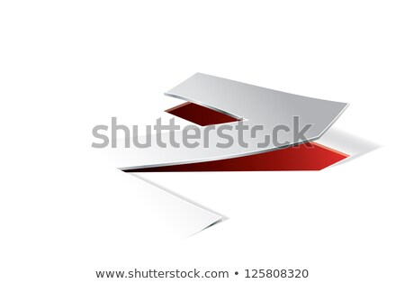 Paper folding with letter Z in perspective view Stock photo © archymeder