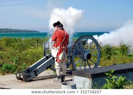 колониальный форт безопасности войны озеро история Сток-фото © saddako2