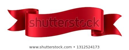 şerit · geniş · kırmızı · yalıtılmış · altın - stok fotoğraf © akaprinay