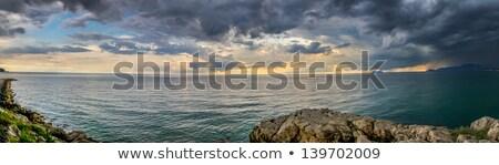 パノラマ · ショット · 海 · イタリア · 雲 · 晴天 - ストックフォト © SecretSilent