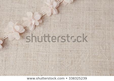 Természetes rusztikus vászon csipke virág háttér Stock fotó © gavran333