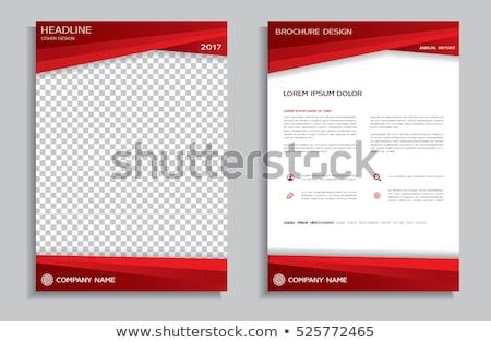 красный шаблон серый волна пусто макет Сток-фото © vlastas