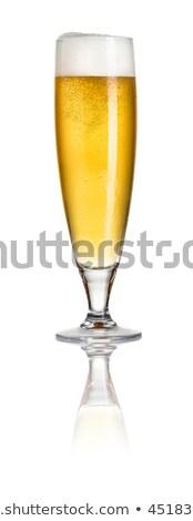 пива флейта стекла оранжевый золото темно Сток-фото © Grafistart